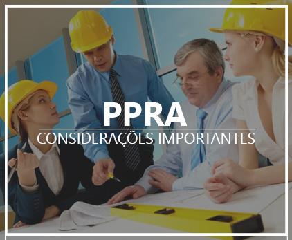 PPRA  – Considerações Importantes